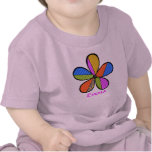 Whimsical Cubism Flower Kid's T-Shirt