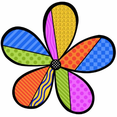 flower patterns to cut out. Whimsical Cubism Flower