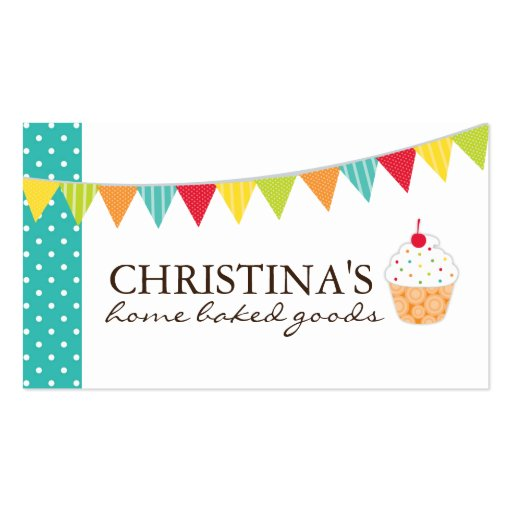 Whimsical Cupcake Artist Business Cards (front side)