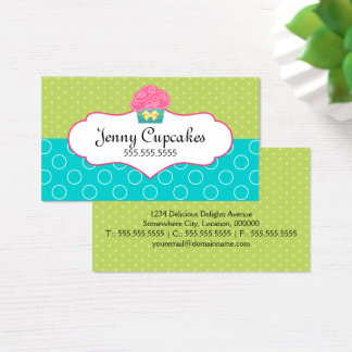 Whimsical Cupcake Bakery Business Card
