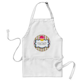 Whimsical Cupcake Bakery Personalized Apron apron