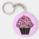 Whimsical Cupcake Basic Round Button Keychain