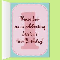 Whimsical Cupcake Birthday Party Invite