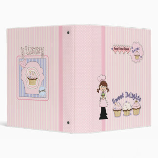 Whimsical Cupcake Girl Design Binder