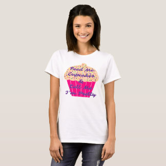 Whimsical Cupcake Graphic T-Shirt