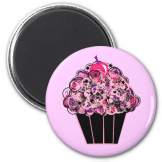 Whimsical Cupcake Magnet