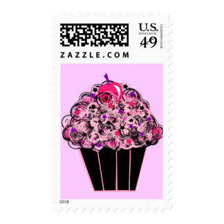 Whimsical Cupcake Postage