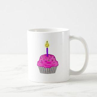 Whimsical Cupcake with Lit Candle Sprinkles Coffee Mug