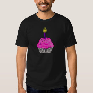 Whimsical Cupcake with Lit Candle Sprinkles Shirts