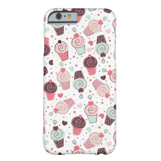 Whimsical Cupcakes Pattern Barely There iPhone 6 Case