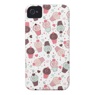 Whimsical Cupcakes Pattern iPhone 4 Case