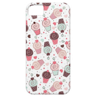 Whimsical Cupcakes Pattern iPhone 5 Cover