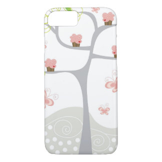 Whimsical Cupcakes Tree Butterflies Sweet Birthday iPhone 8/7 Case