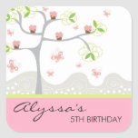 Whimsical Cupcakes Tree Butterflies Sweet Birthday Stickers