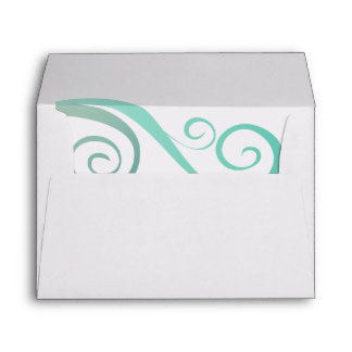 Whimsical Curls Convenient Pre-Addressed Envelope