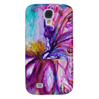 WHIMSICAL CUTE FLOWER FAIRY IN PINK,GOLD SPARKLES SAMSUNG GALAXY S4 CASE