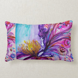 WHIMSICAL CUTE FLOWER FAIRY IN PINK,GOLD SPARKLES THROW PILLOW