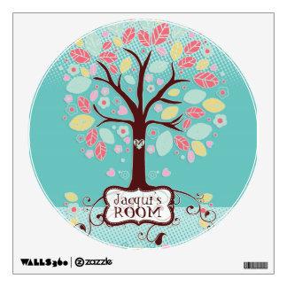 Whimsical Cute Fun Swirl Tree w Bracket Frame ROOM Room Sticker