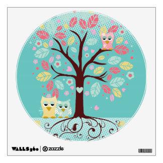 Whimsical Cute Fun Swirl Tree w Bracket Frame ROOM Wall Stickers