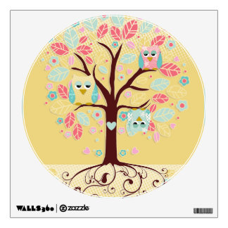 Whimsical Cute Fun Swirl Tree w Bracket Frame ROOM Wall Graphics