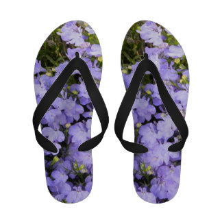 Whimsical Cute Girly Lilac Beautiful Flowers Flip-Flops