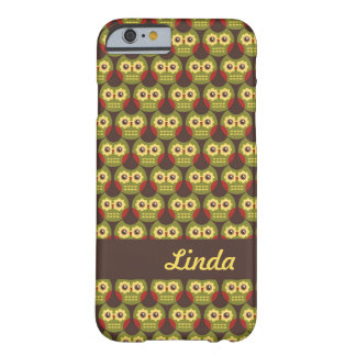 Whimsical Cute Green Owl Pattern 1 iPhone 6 case