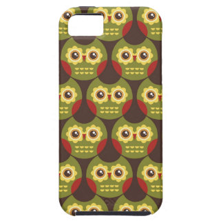 Whimsical Cute Green Owl Pattern 2 iPhone 5 Case