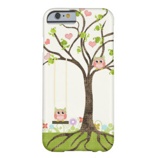 Whimsical Cute Owls Tree of Life Heart Leaf Swirls Barely There iPhone 6 Case