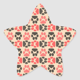 Whimsical Cute Paws Pattern Sticker