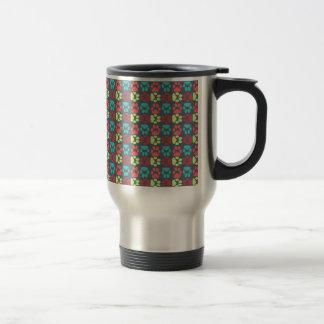 Whimsical Cute Paws Pattern Travel Mug