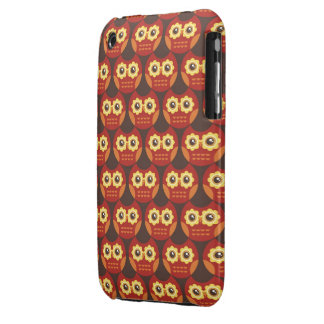 Whimsical Cute Red Owl Pattern 2 iPhone 3G Case