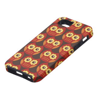 Whimsical Cute Red Owl Pattern 2 iPhone 5 Case