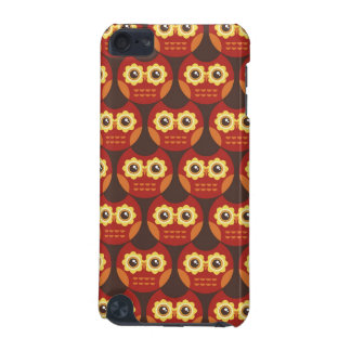 Whimsical Cute Red Owl Pattern 2 iPod Touch Case