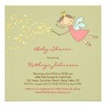 Whimsical Cute Sweet Fairy and Stars Baby Shower I Custom Invitations
