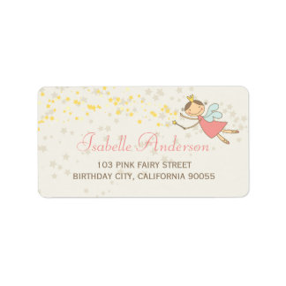 Whimsical Cute Sweet Fairy Stars Address Labels Labels