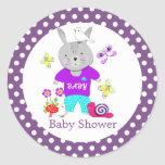 Whimsical Cute Toy Baby Bunny Rabbit Classic Round Sticker