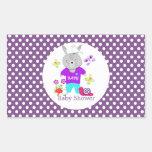 Whimsical Cute Toy Baby Bunny Rabbit Rectangular Sticker