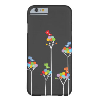Whimsical Cute Tweet Birds Colorful Fun Tree Dots Barely There iPhone 6 Case