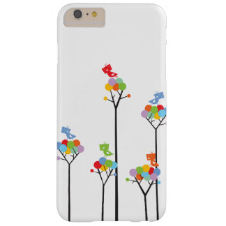 Whimsical Cute Tweet Birds Colorful Fun Tree Dots Barely There iPhone 6 Plus Case