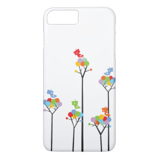 Whimsical Cute Tweet Birds Colorful Fun Tree Dots iPhone 7 Plus Case