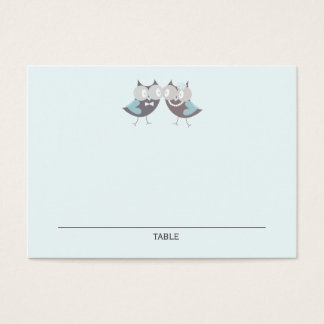 Whimsical Cute Wedding Owls Wedding Place Cards