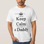 Whimsical Daddy-To-Be Cannot Keep Calm Light Shirt