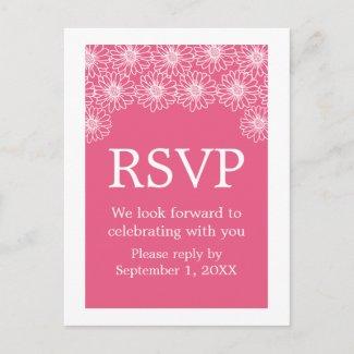Whimsical Daisies RSVP Postcard postcard