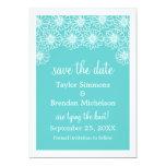 "Whimsical Daisies Save the Date Invite, Aqua 5"" X 7"" Invitation Card"