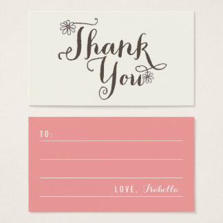 Whimsical Daisies Thank You Script DIY Gift Tag