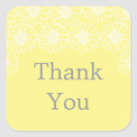 Whimsical Daisies Thank You Stickers Stickers