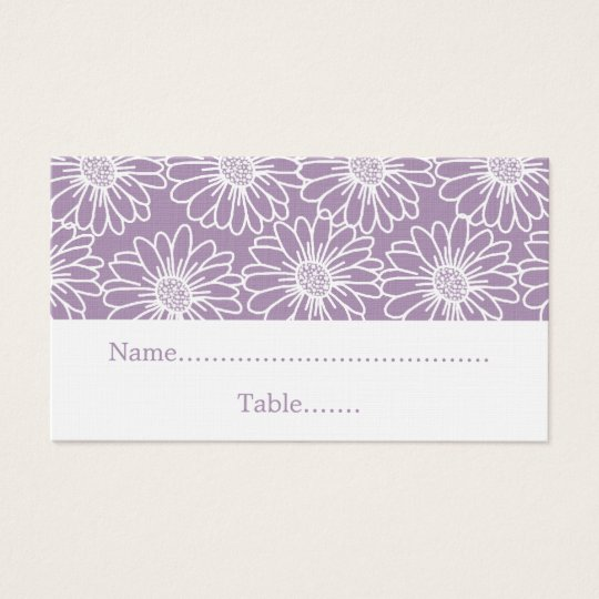 Whimsical Daisies Wedding Place Card