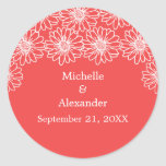 Whimsical Daisies Wedding Stickers