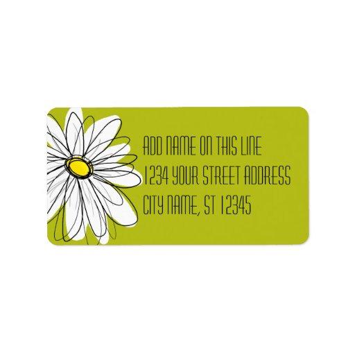 Whimsical Daisy - Return Address Address Label