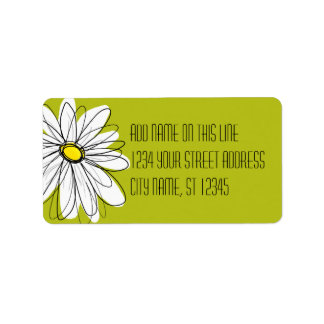 Whimsical Daisy - Return Address Label